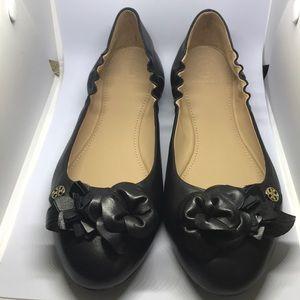 Tory Burch Black Blossom Ballet Flats